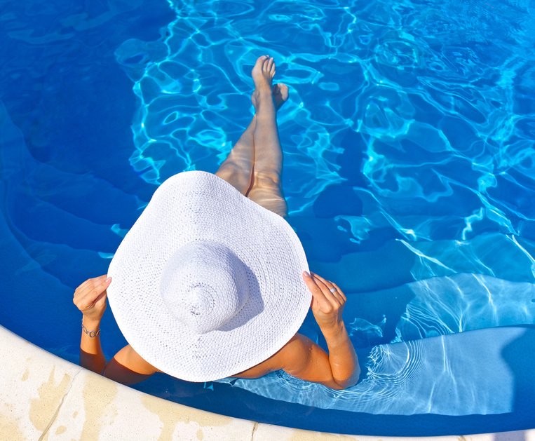 Summer tips: A sun hat is ideal to protect newly pierced ears
